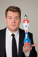 James Corden Photo Shoot with Sir Peter Blake Styled Trophy.Wednesday, Dec.7. 2011