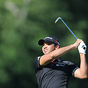 Jason Day, Australia, in action during The Barclays Golf Tournament at The Plainfield Country Club, Edison, New Jersey, USA. 27th August 2015. Photo Tim Clayton