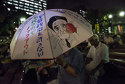 September 28, 2016 - Tokyo, Tokyo, Japan - Japanese protestors demonstrate against the construction of a new U.S.Military base at Henoko in Okinawa. The Executive Committee Stop Henoko organized the demonstration as the Abe government continues to put pressure on Okinawa to allow the project to proceed. (Credit Image: © Alessandro Di Ciommo via ZUMA Wire)