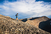 Joe Grant heads down from the summit of Mount Sheridan, Leadville, Colorado.