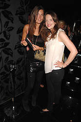 Left to right, AMANDA SHEPPARD and ARABELLA MUSGRAVE at the opening of the new club Chloe, 3 Cromwell Road, London on 7th June 2007.<br />