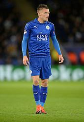 Jamie Vardy of Leicester City - Mandatory by-line: Alex James/JMP - 18/10/2016 - FOOTBALL - King Power Stadium - Leicester, England - Leicester City v FC Copenhagen - UEFA Champions League