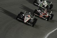 Ryan Briscoe, Scott Dixon, Tony Kanaan, Cafes do Brasil Indy 300, Homestead Miami Speedway, Homestead, FL USA,10/2/2010