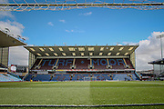 General view of the stadium from the goalmouth before the Sky Bet Championship match between Burnley and Queens Park Rangers at Turf Moor, Burnley, England on 2 May 2016. Photo by Mark P Doherty.