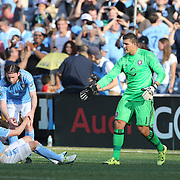 NEW YORK, NEW YORK - May 29:  David Villa #7 of New York City FC reacts after putting a penalty kick over the bar during the New York City FC Vs Orlando City, MSL regular season football match at Yankee Stadium, The Bronx, May 29, 2016 in New York City. (Photo by Tim Clayton/Corbis via Getty Images)