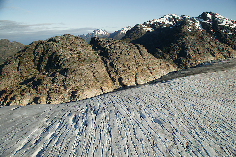 The San Quintin glacier is the largest outflow glacier of the Northern Patagonia Icefield in Chile and is retreating rapidly from the Gulf of Penas in Chile, as seen on Jan. 31, 2004. Daniel Beltra/Greenpeace