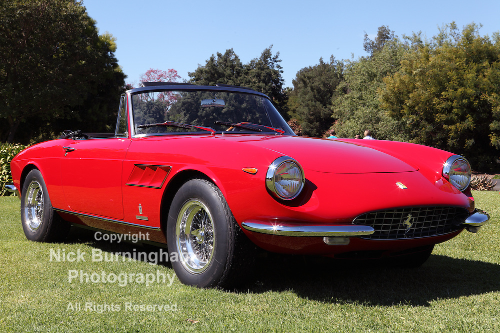 ARCADIA, CALIFORNIA, USA, SEPTEMBER 6, 2013. Spyders in the Garden car show at the Los Angeles Arboretum on September 6, 2013. The 1967 Ferrari 330 GTS Spider is one of only 100 made.