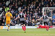 Grimsby Town goalkeeper James McKeown (1) makes a save  during the EFL Sky Bet League 2 match between Grimsby Town FC and Port Vale at Blundell Park, Grimsby, United Kingdom on 10 March 2018. Picture by Mick Atkins.