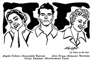 A Place in the Sun : Elizabeth Taylor , Shelley Winters and Montgomery Clift
