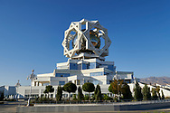 Ashgabat, Turkmenistan - 2017 September 21: A view of the Marriage Registration Palace while 2017 Ashgabat 5th Asian Indoor & Martial Arts Games on September 21, 2017 in Ashgabat, Turkmenistan.<br /> <br /> Mandatory credit:<br /> Photo by © Adam Nurkiewicz<br /> <br /> Adam Nurkiewicz declares that he has no rights to the image of people at the photographs of his authorship.<br /> <br /> Picture also available in RAW (NEF) or TIFF format on special request.<br /> <br /> Any editorial, commercial or promotional use requires written permission from the author of image.