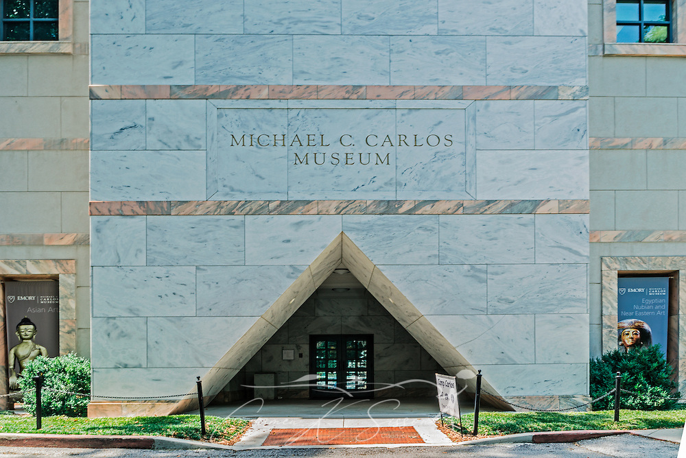 The entrance to the Michael C. Carlos Museum is pictured at Emory University, July 8, 2014, in Atlanta, Georgia. The museum was founded in 1876 and contains more than 17,000 artifacts in its permanent collections. (Photo by Carmen K. Sisson/Cloudybright)