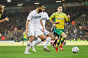 Norwich City midfielder Kenny McLean (23) bursting through during the EFL Sky Bet Championship match between Norwich City and Swansea City at Carrow Road, Norwich, England on 8 March 2019.