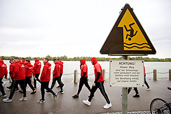 VIENNA, AUSTRIA - Thursday, October 6, 2016: Wales players during a pre-match walk at the Hilton Danube Waterfront Hotel ahead of the 2018 FIFA World Cup Qualifying Group D match against Austria. (Pic by David Rawcliffe/Propaganda)