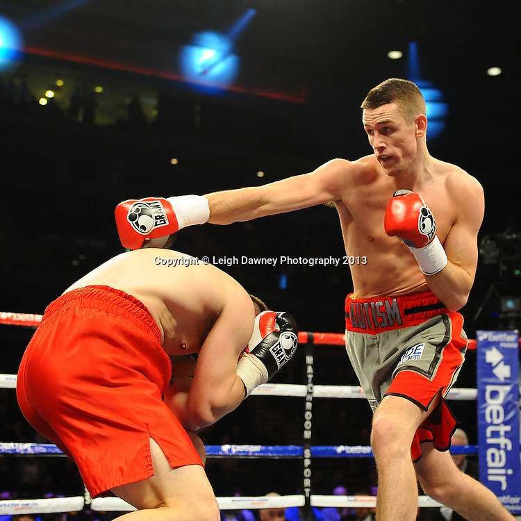 Callum Smith defeats Iain Jackson in a 6x3 Middleweight contest at the Echo Arena, Liverpool, London, UK on the 30th March 2013. Matchroom Sport © Leigh Dawney Photography 2013.