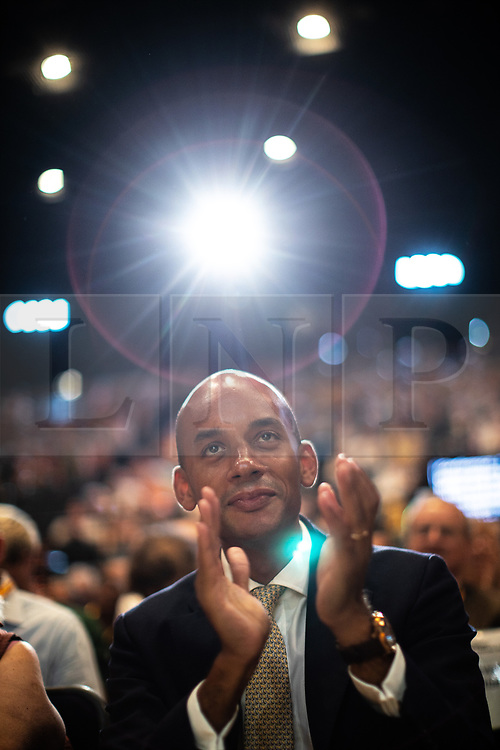 © Licensed to London News Pictures . 16/09/2019. Bournemouth, UK. CHUKA UMUNNA applauds from the audience prior to listening to Ed Davey's speech during the Liberal Democrat Party Conference at the Bournemouth International Centre . Photo credit: Joel Goodman/LNP