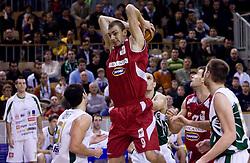 Elmedin Kikanovic of Crvena Zvezda at basketball match of 4th Round of NLB League between KK Union Olimpija and KK Crvena zvezda,  on October 24, 2009, Arena Tivoli, Ljubljana, Slovenia.  Union Olimpija won 94:76.  (Photo by Vid Ponikvar / Sportida)