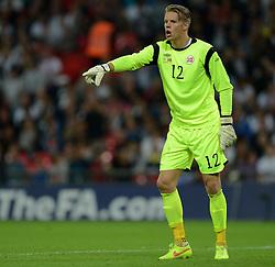 Norway's Orjan Nyland  - Photo mandatory by-line: Alex James/JMP - Mobile: 07966 386802 - 3/09/14 - SPORT - FOOTBALL - London - Wembley Stadium - England v Norway - International Friendly