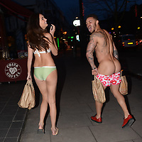 Spoted MTV Show Ex on the Beach casts wearng swimwear on Camden high street