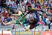 Ludvy Vaillant competes in men 400m hurdles during the European Championships 2018, at Olympic Stadium in Berlin, Germany, Day 3, on August 9, 2018 - Photo Philippe Millereau / KMSP / ProSportsImages / DPPI