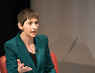 Liberal Democrat candidate Caroline Pidgeon during the Greener London Hustings in advance of the London Mayoral election at One Wimpole Street, London.<br /> Picture by Focus Images/Focus Images Ltd 07814 482222<br /> 04/03/2016
