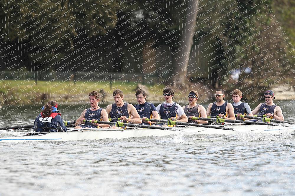 2012.02.25 Reading University Head 2012. The River Thames. Division 1. Southampton University Boat Club IM1 8+.