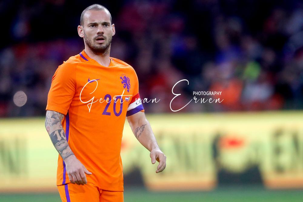 28-03-2017 VOETBAL:NEDERLAND - ITALIE:AMSTERDAM<br /> <br /> Wesley Sneijder (Galatasaray) of Holland <br /> <br /> Foto: Geert van Erven