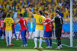 Fred na partida entre Brasil x Chile, válida pelas oitavas de final da Copa do Mundo 2014, no Estádio Mineirão, em Belo Horizonte. FOTO: Jefferson Bernardes/ Agência Preview