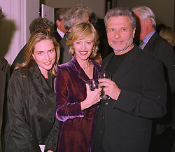 Left to right, MISS SHEBA RONAY, her parents fashion designer EDINA RONAY and MR DICK POLAK, at a party in London on 6th May 1998.MHJ 18 3oro