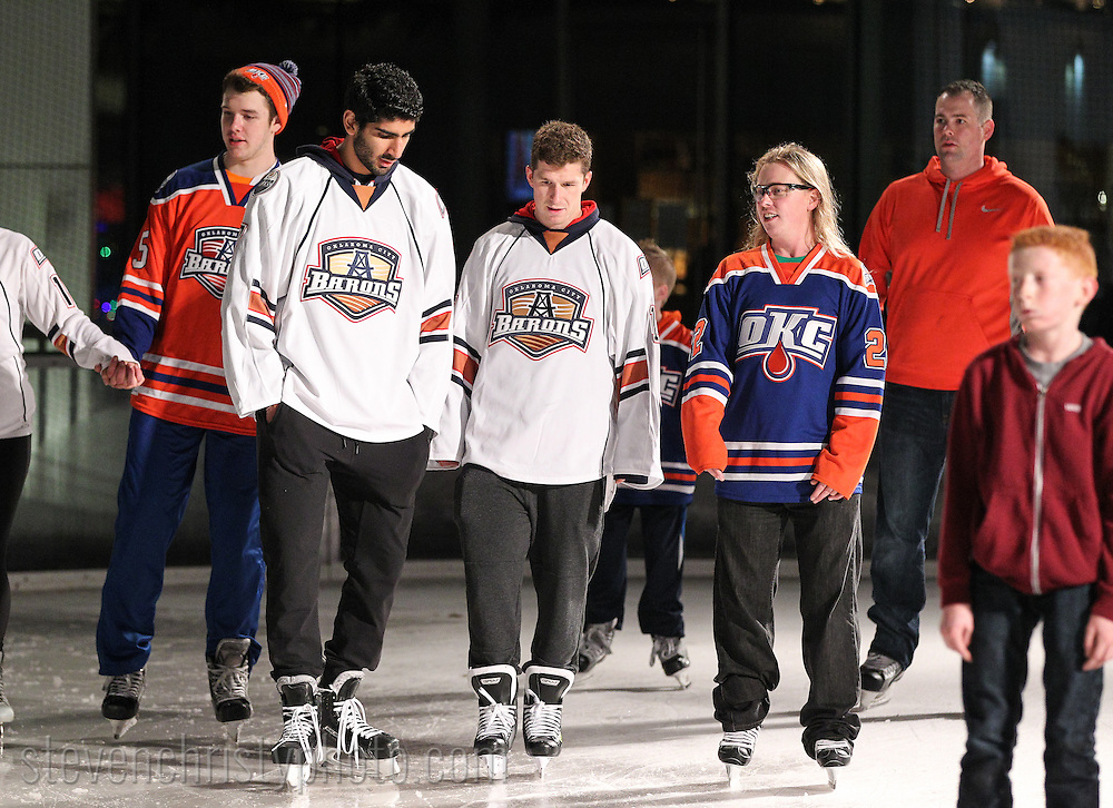 December 13, 2014: The Oklahoma City Barons host WinterFest at the Devon Ice Rink in the Myriad Gardens in Oklahoma City, OK.