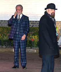 © Licensed to London News Pictures. 08/02/2016. London, UK. DAVID GOLD (left) leaves The Brewery in London after the annual Conservative Party Black & White Ball, a Conservative Party fundraiser.  Photo credit: Ben Cawthra/LNP