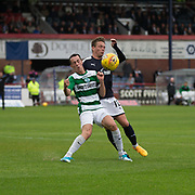 Buckie Thistle&rsquo;s Kevin Fraser and Dundee&rsquo;s Scott Allan - Dundee v Buckie Thistle, Betfred Cup at Dens Park, Dundee, Photo: David Young<br /> <br />  - &copy; David Young - www.davidyoungphoto.co.uk - email: davidyoungphoto@gmail.com