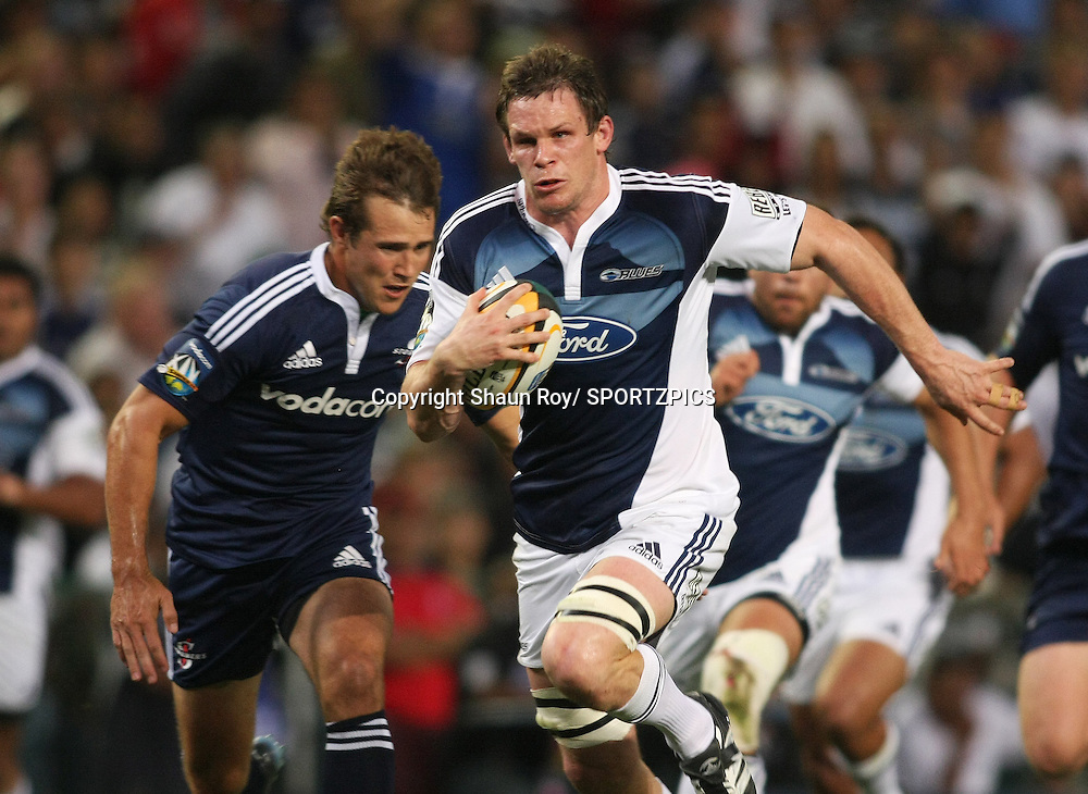 CAPE TOWN, SOUTH AFRICA - 28 February 2009: Josh Blackie on the charge during the Super 14 match between the Vodacom Stormers and the Blues held at Newlands Stadium in Cape Town. Photo by: Shaun Roy/ SPORTZPICS