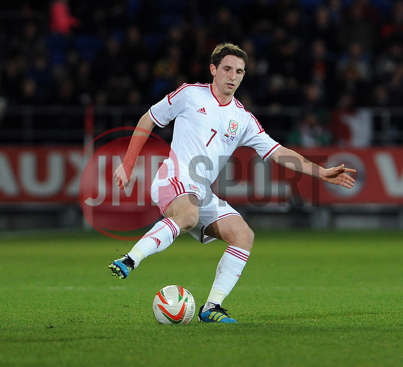 Joe Allen of Wales (Liverpool) - Photo mandatory by-line: Dougie Allward/JMP - Tel: Mobile: 07966 386802 03/03/2014 -