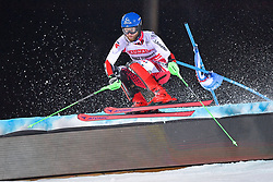 19.02.2019, Stockholm, SWE, FIS Weltcup Ski Alpin, Parallelslalom, Herren, im Bild Marco Schwarz (AUT) // Bronze medalist Marco Schwarz of Austria in action during the men's parallel slalom of FIS ski alpine world cup at the Stockholm, Sweden on 2019/02/19. EXPA Pictures © 2019, PhotoCredit: EXPA/ Nisse Schmidt<br /> <br /> *****ATTENTION - OUT of SWE*****