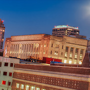 Downtown Kansas City Missouri at Sunset in July 2011.