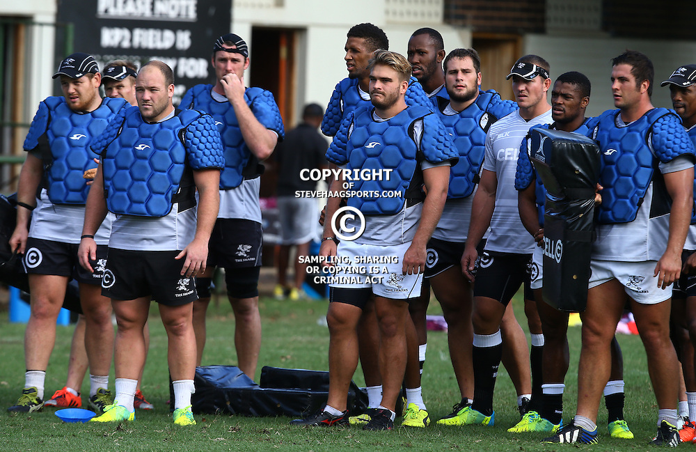 DURBAN, SOUTH AFRICA, 22,MARCH, 2016 - General views during The Cell C Sharks training session  at Growthpoint Kings Park in Durban, South Africa. (Photo by Steve Haag)<br /> <br /> images for social media must have consent from Steve Haag