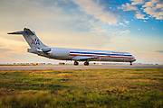 American Airlines McDonnell Douglas MD-83, taxiing at Atlanta's Hartsfield-Jackson International Airport.  Created by aviation photographer John Slemp of Aerographs Aviation Photography. Clients include Goodyear Aviation Tires, Phillips 66 Aviation Fuels, Smithsonian Air & Space magazine, and The Lindbergh Foundation.  Specialising in high end commercial aviation photography and the supply of aviation stock photography for commercial and marketing use.