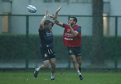 November 20, 2018 - Rome, Italy - Rugby Italy training - Cattolica Test Match.Oliviero Fabiani and Edorardo Padovani at Giulio Onesti Sport Center in Rome, Italy on November 20, 2018. (Credit Image: © Matteo Ciambelli/NurPhoto via ZUMA Press)