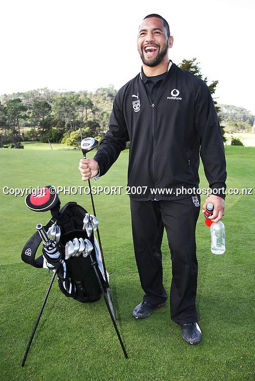 Ruben Wiki. Warriors golf day. Huapai Golf Club, Auckland, New Zealand. Monday 13 August 2007. Photo: Hagen Hopkins/PHOTOSPORT