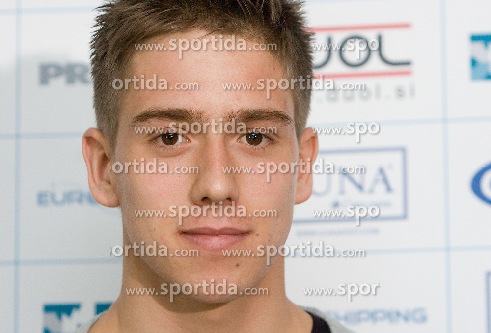 Kristian Lipovac at press conference of NK Olimpija before summer season, on February 10, 2010 in Hotel Lev, Ljubljana, Slovenia.  (Photo by Vid Ponikvar / Sportida)