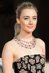 © Licensed to London News Pictures. 14/02/2016. London, UK. SAOIRSE RONAN arrives on the red carpet for the EE British Academy Film Awards 2016 after party held at Grosvenor House . London, UK. Photo credit: Ray Tang/LNPPhoto credit: Ray Tang/LNP
