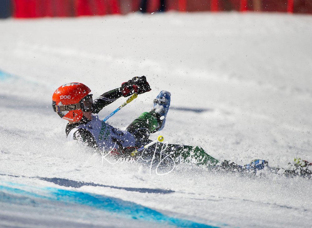 Piches Invitational U12 mens Giant Slalom with Gunstock Ski Club.  ©2016 Karen Bobotas Photographer
