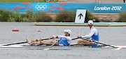 Eton Dorney, Windsor, Great Britain,..2012 London Olympic Regatta, Dorney Lake. Eton Rowing Centre, Berkshire[ Rowing]...Description;   Men's Double Sculls, Silver Medalist  ITA M2X. Alessio SARTORI (b) , Romano BATTISTI (s).   Dorney Lake. 11:58:14  Thursday  02/08/2012.  [Mandatory Credit: Peter Spurrier/Intersport Images].Dorney Lake, Eton, Great Britain...Venue, Rowing, 2012 London Olympic Regatta...