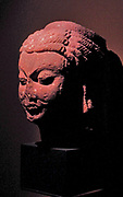 Mathura Gupta style sculpture of the Hindu god Vishnu circa AD 300-400, sandstone.