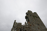 Castle ruin on Inis Oirr Island the Aran Islands County Galway Ireland