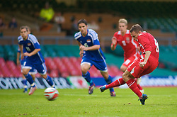 CARDIFF, WALES - Saturday, October 11, 2008: Wales' captain Craig Bellamy sees his penalty saved against Liechtenstein during the 2010 FIFA World Cup South Africa Qualifying Group 4 match at the Millennium Stadium. (Photo by Gareth Davies/Propaganda)