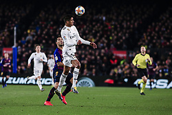 February 6, 2019 - Barcelona, Spain - 05 Varane of Real Madrid during the semi-final first leg of Spanish King Cup / Copa del Rey football match between FC Barcelona and Real Madrid on 04 of February of 2019 at Camp Nou stadium in Barcelona, Spain  (Credit Image: © Xavier Bonilla/NurPhoto via ZUMA Press)