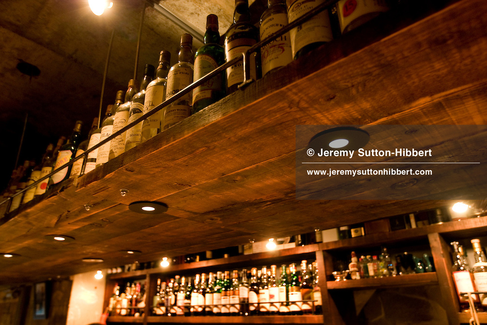 'The Mash Tun' whisky bar in Meguro, Tokyo, Japan, Thursday 29th January 2009.