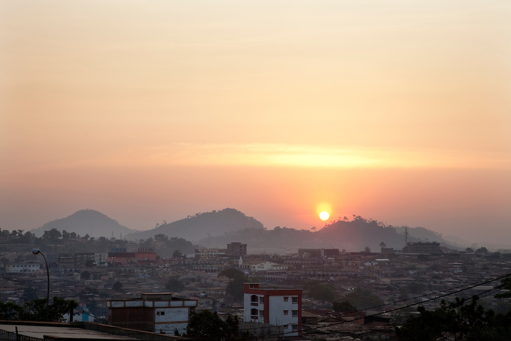 Sunset over Yaounde, Cameroon.