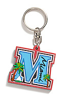 Miami keychain on white background